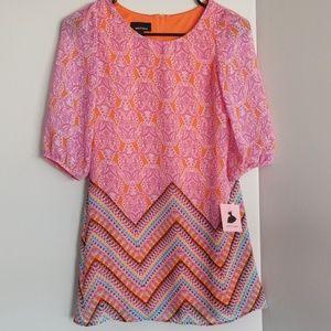 NWT kids dress size 10 paisley pattern zipper